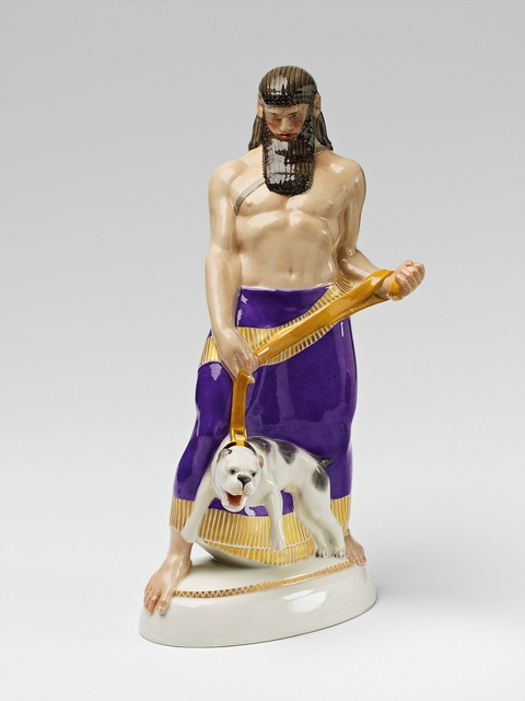 Assyrer mit Hund -