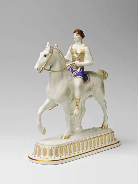 Der Bräutigam zu Pferd als römischer Krieger -