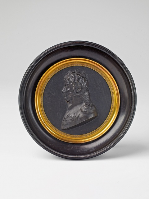 A Berlin cast iron medallion depicting Henri Jacques Guillaume Clarke (1765-1818) -
