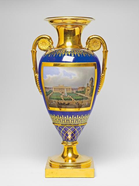 Vase mit zwei Berliner Ansichten -