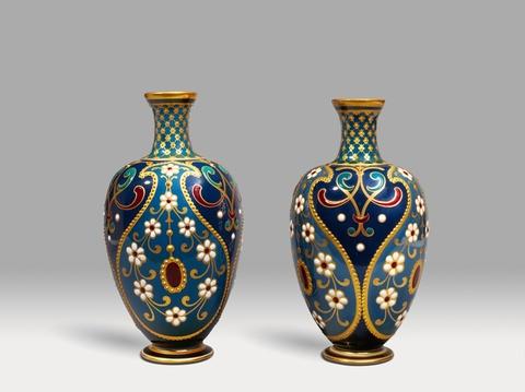 Seltenes Vasenpaar Weinblüte -