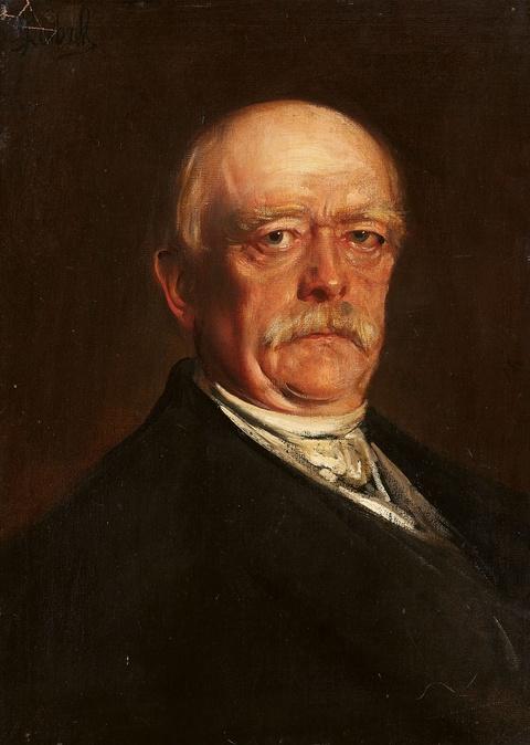 Franz Seraph von Lenbach - Porträt des Otto von Bismarck