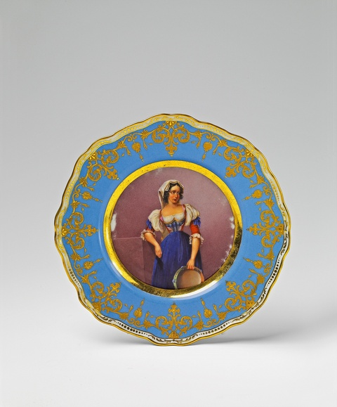 A St. Petersburg porcelain plate with a motif after a painting -