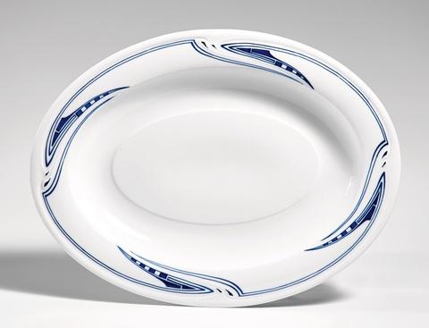 An oval Meissen porcelain serving dish by Henry van de Velde -