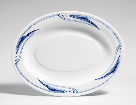 A Meissen porcelain serving platter by Henry van de Velde -
