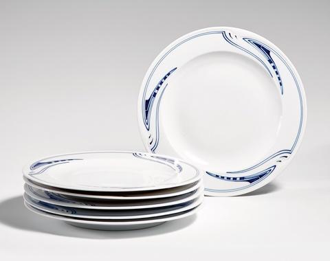A set of Meissen porcelain dinner plates by Henry van de Velde -