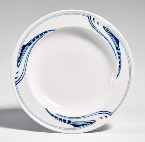 A Meissen porcelain soup bowl by Henry van de Velde -