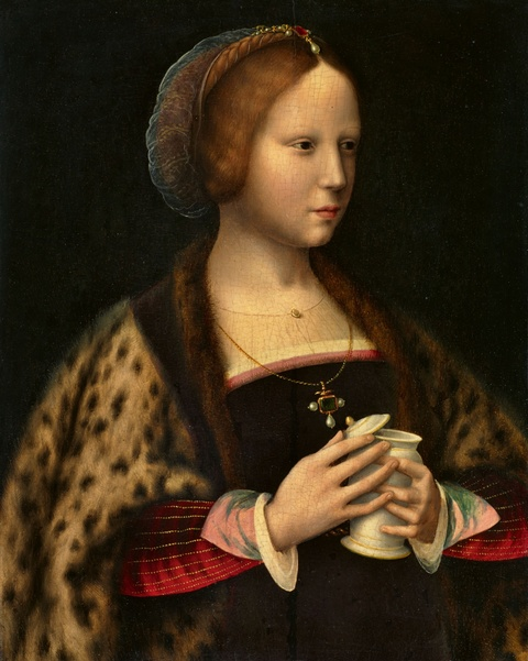 Joos van Cleve and studio - Portrait of a Lady as Mary Magdalene