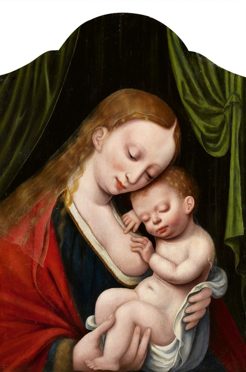 Netherlandish School, 16th century - The Virgin with the Sleeping Christ Child