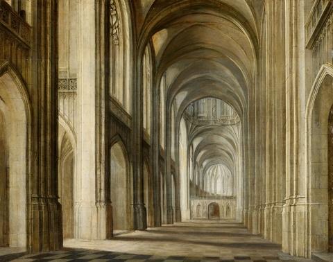 Netherlandish School, early 17th century - An Empty Church Interior