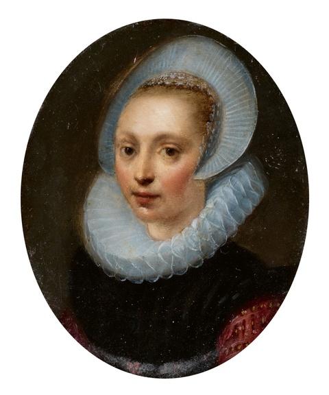 Gortzius Geldorp, zugeschrieben - Bildnis einer jungen Frau mit Diademhaube und Mühlsteinkragen