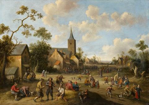 Joost Cornelisz. Droochsloot - Village Street Scene