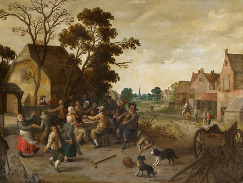 Joost Cornelisz. Droochsloot, attributed to - By the Tavern