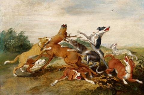 Jan van Kessel the Elder - A Deer Hunt