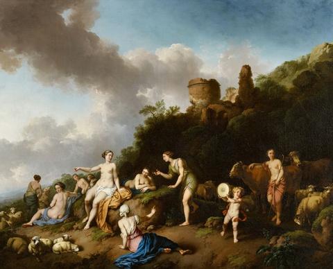 Christian Wilhelm Ernst Dietrich, gen. Dietricy - Landschaft mit Diana und ihren Nymphen
