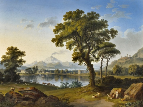 Jacob Philipp Hackert - Landschaft mit sizilianischen Tempeln