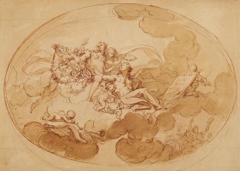 Römischer Meister des 18. Jahrhunderts - Apollo und die Musen