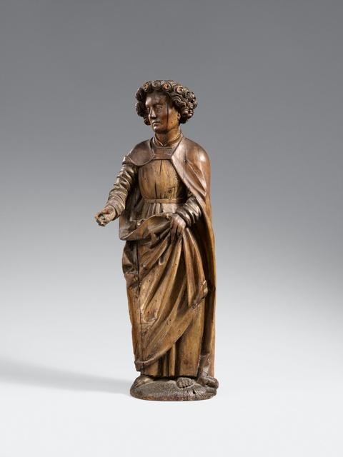 Probably Swabia, circa 1500 - A carved limewood figure of St. John (?), presumably Swabian, circa 1500