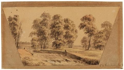 Caspar David Friedrich - Landschaft mit Wehr