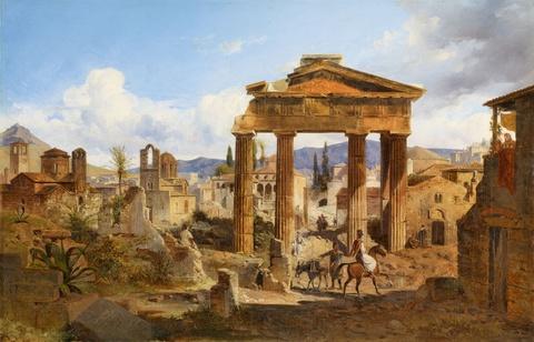 Ludwig Lange - Das Tor der Athena Archegetis in Athen und die römische Agora von Westen