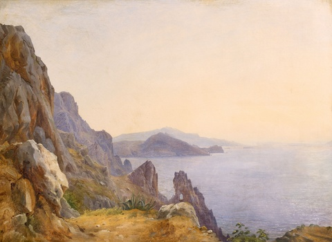 Carl Morgenstern - View of Capri with the Arco Naturale