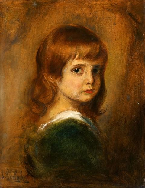 Franz Seraph von Lenbach - Portrait eines jungen Mädchens