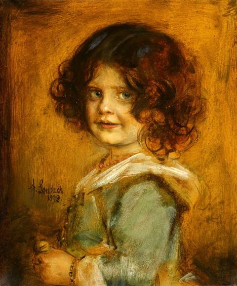 Franz Seraph von Lenbach - Portrait eines Mädchens