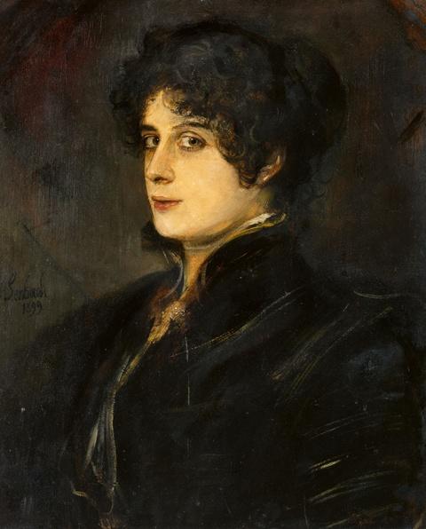 Franz Seraph von Lenbach - Portrait einer Dame