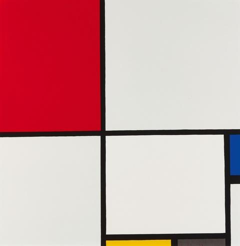 Nach Piet Mondrian - Ohne Titel