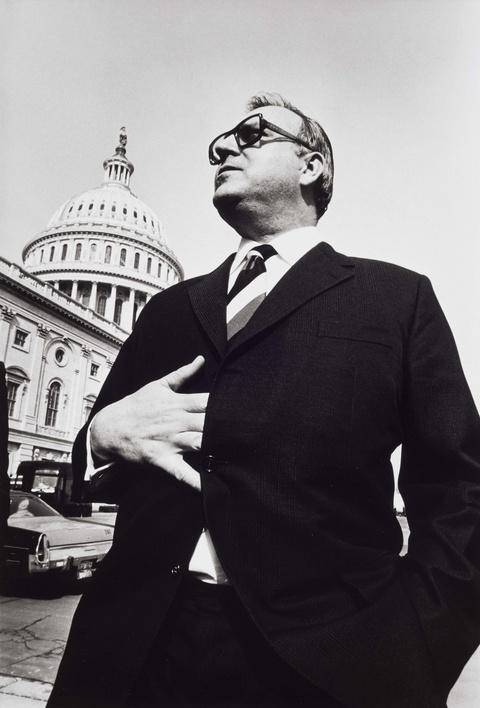 Robert Lebeck - Helmut Kohl vor dem Kapitol in Washington