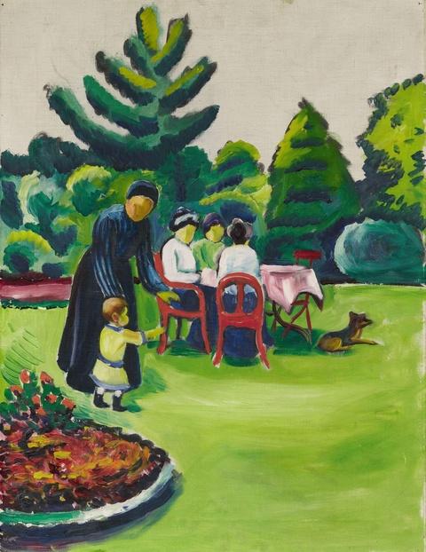 August Macke - Kaffeetafel im Garten
