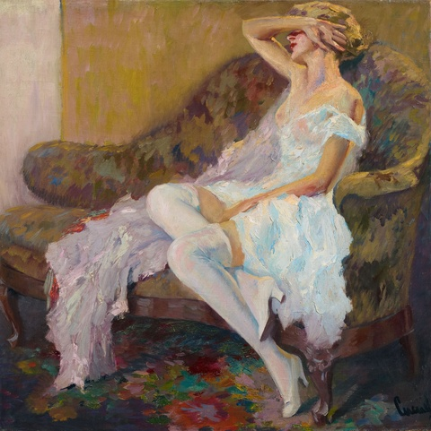 Edward Cucuel - Im Atelier