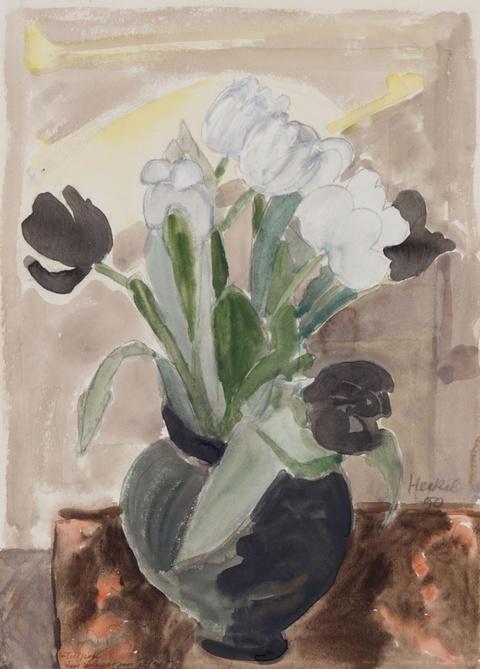 Erich Heckel - Tulpen im schwarzen Topf