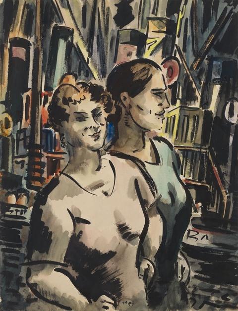 Frans Masereel - Deux Femmes au Port