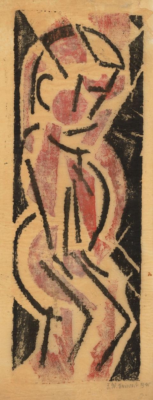 Franz Wilhelm Seiwert - Stehende Gestalt mit geneigtem Kopf