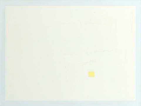Antonio Calderara - Quadrato giallo in rettangolo bianco