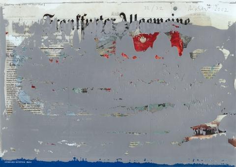 Gerhard Richter - FAZ-Übermalung