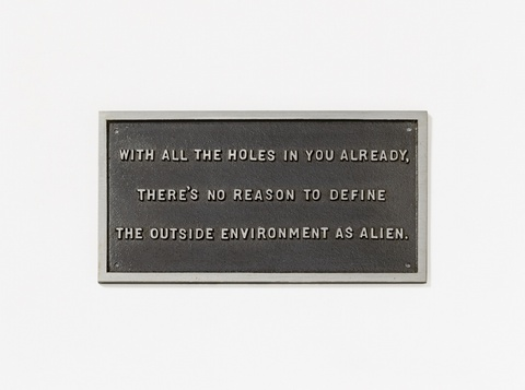 Jenny Holzer - From the Survival Series: With all the holes in you already, ...