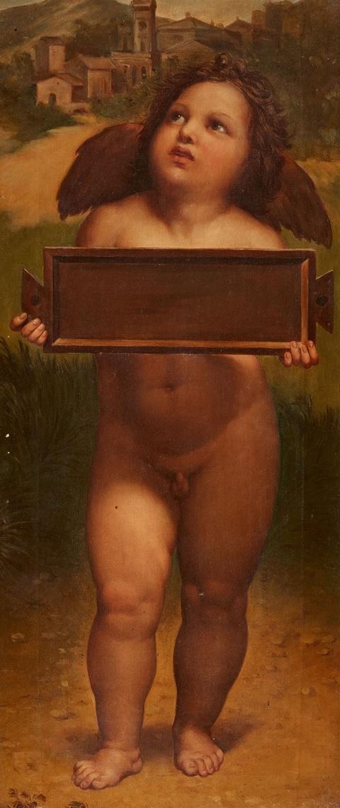 Deutscher Künstler des 19. Jahrhunderts - Zwei Gemälde mit stehenden Putti