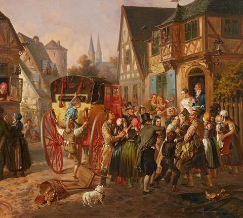 August von Rentzell - The Wedding Procession