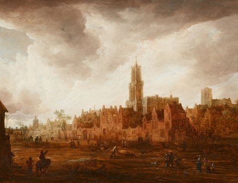 Frans de Momper, attributed to - View of Antwerp