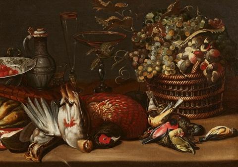 Frans Snyders, in der Art - Stillleben mit Früchten und Jagdbeute