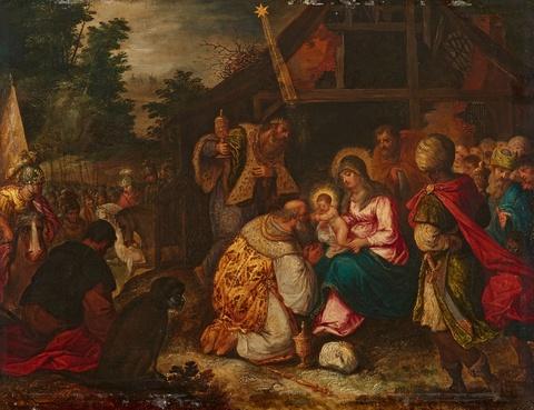 Süddeutscher Meister um 1600 - Anbetung der Könige