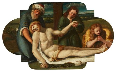Süddeutscher Meister der 1. Hälfte des 17. Jahrhunderts - Beweinung Christi
