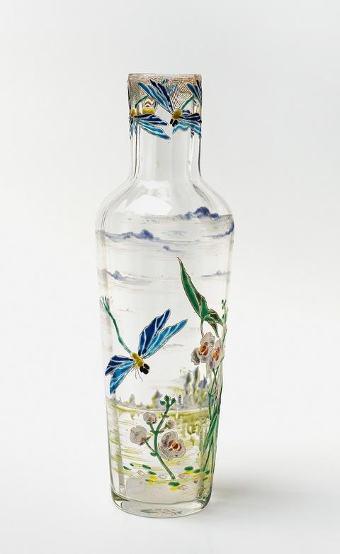 Seltene Vase mit Libellen -