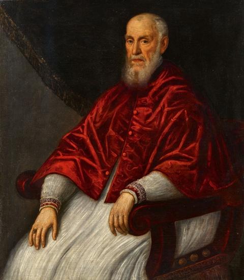 Domenico Tintoretto - Portrait of Giovanni Grimani, Patriarch of Aquileia
