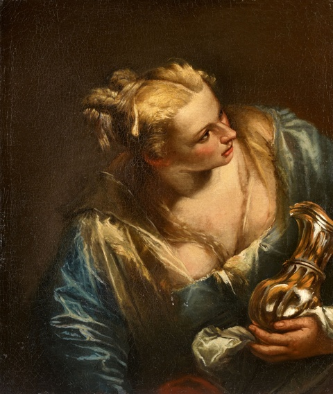 Venetian School circa 1600 - Young Woman with a Silver Pitcher
