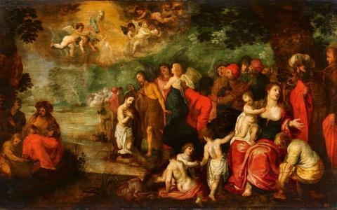 Jan Brueghel d. J., Werkstatt Hendrick van Balen - Taufe Christi