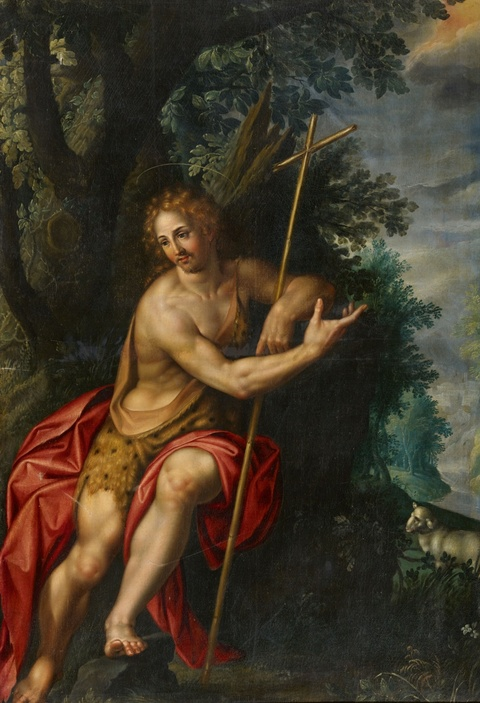 Hendrick de Clerck - John the Baptist in a Landscape
