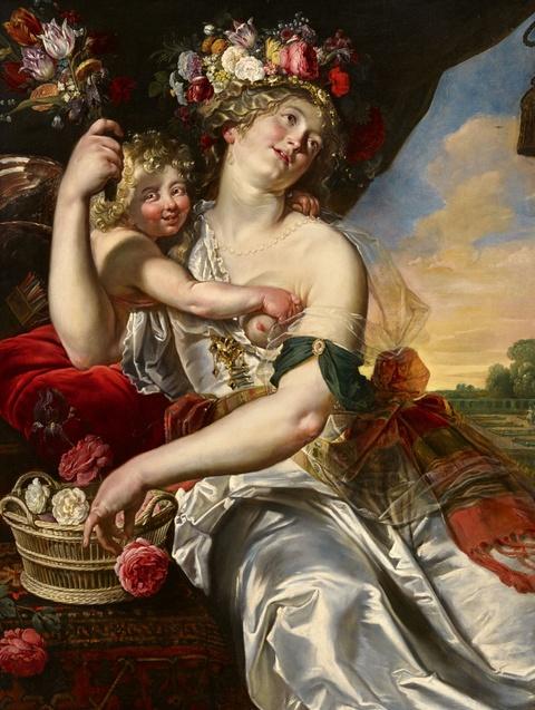 Abraham Janssens II - Allegorie des Frühlings